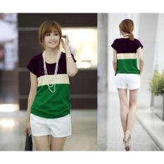 Cheap Blouse 3w ungu cream hijau