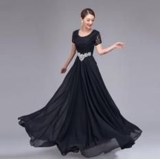 Murah Panjang Merah Kain Sutra Biru Mewah Wanita Kristal Gaun Malam Elegan Formal Gaun Cina Vestido Longo Kesempatan Gaun Pesta Hitam-Intl
