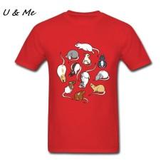 Jual Murah Modis Kaus Maker Lucu Tikus Pria Kaus Heather Pakaian untuk Kartun Atasan Merah-Internasional