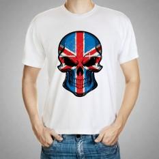 Jual Murah Modis Kaus Clothing Pria Anime Kaus Kemeja Putih Atasan-Internasional
