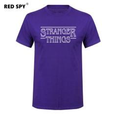 Jual Murah Pria T Kaus Modis Stranger Sesuatu Pria Kaus Katun Pria Lengan Pendek Kemeja Kaus Pria Ungu 002-Internasional