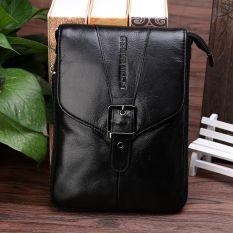 CHEER SOUL kulit sapi tas pinggang Kulit asli Pria tas pinggang Layar Besar HP tas pinggang 6.3 6.6 7-inch tas bahu dengan satu tali tas ponsel