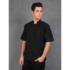 Chef Series Basic Tangan Pendek Baju Koki - Hitam