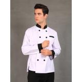 Model Chef Series Silver Series Tangan Panjang Baju Koki Putih Terbaru