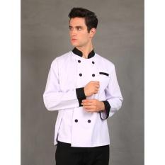 Jual Chef Series Silver Series Tangan Panjang Baju Koki Putih Branded Murah