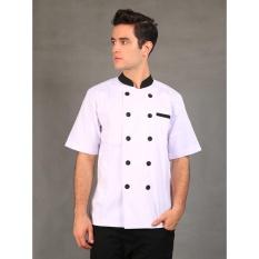 Chef Series Silver Series Tangan Pendek Baju Koki - Putih