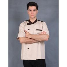 Chef Series Universal Tangan Pendek Baju Koki - Krem