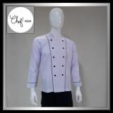 Jual Chef Wear Baju Koki Putih Lengan Panjang S Xl Chef Wear Grosir