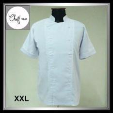 Chef Wear Baju Koki Putih Lengan Pendek Xxl (Bis Putih) - 9C556B