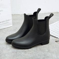 Chelsea Korea Fashion Style Dewasa Wanita Sepatu Karet Modis Sepatu Boots Hujan (Model Wanita +