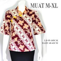 cheongsam atasan batik baju imlek A515 merah kuning