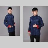 Situs Review Cheongsam Untuk Pria Cina Tradisional Tang Suit Dua Side Wear Untuk Pernikahan Perayaan Festival China Biru Merah Intl