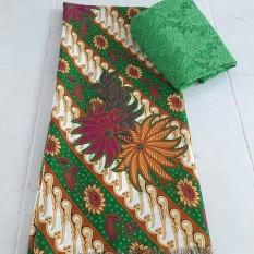 cherry - setelan kain satin bunga camelia batik uk. 2 mtr dan brokat  lembaran uk 890d95fb0b