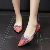 Harga Chic Korea Fashion Style Menunjuk Siswa Datar Sepatu Slip On Sepatu Biru Oem Asli