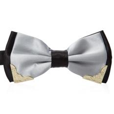Logam yang apik dihiasi dengan dasi kupu-kupu untuk gaun Pernikahan - T05 (Perak)