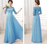 Spesifikasi Chiffon Dress S*xy Lace Fashion Dress Evening Dress Wedding Dinner Dress Tide Color C0 Intl Baru