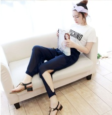 Toko Chiffon Harun Celana Han Edition Leisure Fashion Gauze Panty Sembilan Menit Dari Celana Split Big Yards Intl Terlengkap