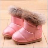 Cara Beli Anak Perempuan Anak Musim Dingin Hangat Bulu Kelinci Kulit Sepatu Bot Salju Baru Internasional