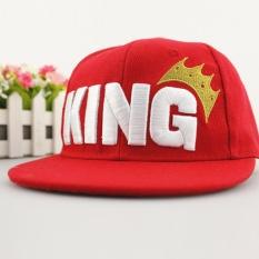 Piyama Cowok Cewek Bayi Raja Surat Topi Baseball Mahkota Adjustable Topi Bertepi Terbaru Daftar (Warna: Merah)-Intl
