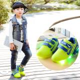 Harga Children Brothers And Perempuan Sepatu Lari Bercahaya Lampu Led Up Sepatu Anak Sepatu Hijau ต่างประเทศ Tiongkok