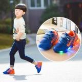 Children Boys Girls Sepatu Lari Bercahaya Sneakers Led Light Upkids Sepatu Biru Intl Di Tiongkok