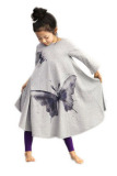 Beli Pakaian Anak Perempuan Gaun Pantai Kapas These Butterflies Cetak Gaun Panjang Kelabu Seken