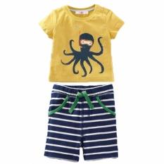 Anak Pakaian Set 2017 Summer Anak Bayi Laki-laki Pakaian Set Printing T-shirt + Celana Pendek 2 Pcs Pakaian Boys Sport Suit-Intl