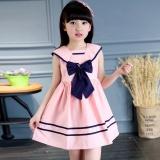 Cara Beli Anak Gadis Ikatan Simpul Sailor Gaun Tanpa Lengan Musim Panas Katun A Line Gaun Pakaian Intl
