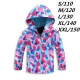Jual Anak Gadis Kamuflase Heart Outdoor Tambah Wol Waterproof Mountain Jaket Windproof Anak Anak Musim Gugur Musim Dingin Hooded Angin Mantel Bulu Intl Oem Branded