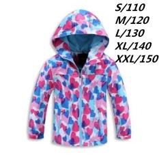Jual Anak Gadis Kamuflase Heart Outdoor Tambah Wol Waterproof Mountain Jaket Windproof Anak Anak Musim Gugur Musim Dingin Hooded Angin Mantel Bulu Intl Oem Murah