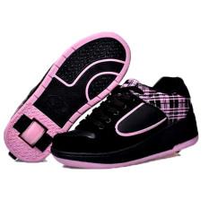 Anak-anak Heelys Roller Skate Shoes untuk Boy Girl Kids Tombol Otomatis Sneakers dengan Roda Sport Sepatu (Pink)
