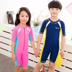 2018 New Children's One Piece Swimsuit Cartoon Boys & Girls Cute Swimwear -Intl