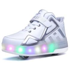 Anak DIPIMPIN Heelys Sepatu Single atau Double Wheel Roller Sneakers Skate  Flashing Footwears b4b6f50ea8