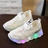 Toko Anak Anak Sepatu Ringan Big Boy Olahraga Net Sepatu Bernapas Elastis Sepatu Led Berkedip Bayi Langkah Sepatu Lembut Bawah Sepatu Olahraga Putih Intl Online Tiongkok