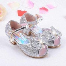 Jual Anak Baru Fashion High Heels Sandal Putri Pesta Prom Sepatu Untuk Anak Perempuan Berkualitas Tinggi Non Slip Gesper Sandal Silver Intl Oem Ori