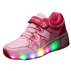 Anak-anak USB LED Light Heelys Jazzy Sepatu Heelys Roller Sepatu Anak 476dcfe700