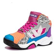 Anak-anak Berkualitas Tinggi Sepatu Bola Keranjang Anak Tinggi Upper Sneakers Laki-laki dan Gadis Olahraga Sepatu Ukuran 30-39- internasional