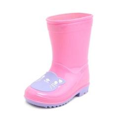 Hujan Anak-anak Bot Anak-anak Hujan Sepatu Menggemaskan Bayi Perempuan dan Anak Laki-laki Bot Modis Lucu Anti-Air Anti Selip Sepatu merah Muda-Internasional