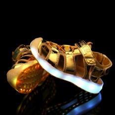 Review Anak S Sepatu Musim Panas Besar Anak Sandal Lampu Anak Anak Beach Sepatu Pria Dan Wanita Terbuat Charge Led Bernapas Sepatu Emas Intl Terbaru