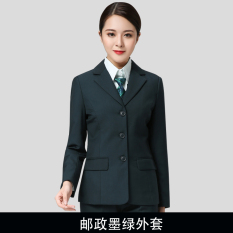 Tiongkok Post Hijau Gelap Wanita Seragam Seragam Kerja (Hijau Gelap Jas Perempuan)