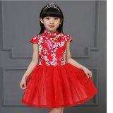 Jual Gaya Cina Kids Dress Gadis Kecil Floral Print Gaun Anak Cheongsam Gaya Gaun Anak Chipao Dress Intl
