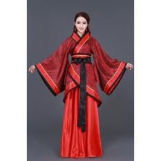 Wanita Cina Ruqun Hanfu Setelan Cosplay Lengan Panjang Gaun Wangsa Tang Kostum-Internasional