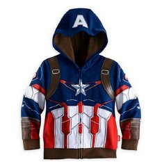 Promo Toko Chloe S Clozette Jaket Anak Ja 15 Captain America Biru
