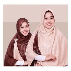 Diskon Choco Cream Jilbab Bolak Balik Instan Syari 2 In1 Pricilla P4 Pricilla Jawa Barat