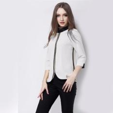 Promo Christine Korean Blouse Blus Model Korea Pakaian Kantor Wanita Murah