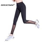 Iklan Chrleisure S Xl Bernapas Mesh Legging S*xy Women Fitness Legins Celana Elastisitas Big Size Black Latihan Legging Intl