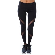 Harga Chrleisure Wanita Jala Legging Fashion Ikat Tinggi Dorong Latihan Legging Activewear Polyester Black Running Finness Yoga Legging Asli