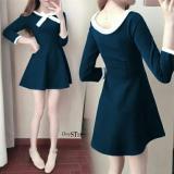 Jual Chrystion Mini Dress Wanita Ribbon Scuba Import Korean Casual Style Agnes Termurah