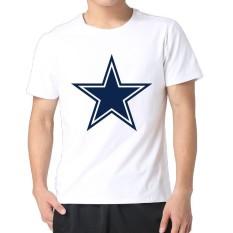 Chuangmeng Pria Sepak Bola Dallas-cowboys-LOGO Lengan Pendek Personalized T Kemeja Putih-