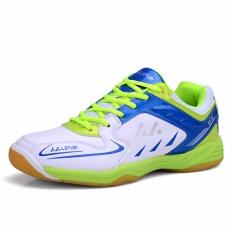 Chuangyu Laki-laki dan Perempuan Olahraga Pelatihan Profesional Sepatu Bulu Tangkis B01 (hijau)-Intl